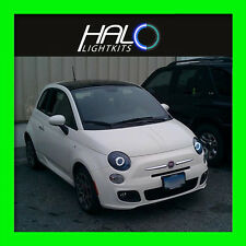 2011-2014 FIAT 500 WHITE PLASMA HEADLIGHT HALO ANGEL EYES RINGS by ORACLE