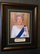 Queen Elizabeth of England Famous Quote and Photo Matted and Framed