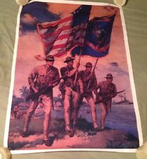 """vintage WW1 """"SPIRIT OF 1917"""" US MARINE CORP RECRUITMENT POSTER~REPRODUCTION WWI"""