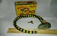 "Vintage Wind-up Tin Toy ""Hungry Snake"" In Box With Key - Made in Japan Lot RARE"