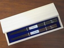 Gift Chopsticks rubbed japan lacquer Mt. Fuji Paulownia Box made in  Japan