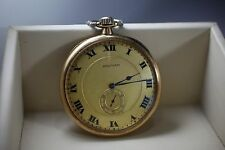 1918 14K Opera Waltham Pocket Watch With Exhibition Back With Cover