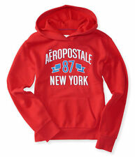SALE NWT AERO aeropostale womens 87 banner pullover SHIRT hoodie RED M sweater