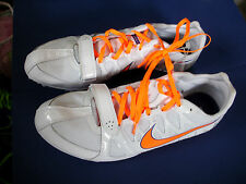 NIKE Track & Field~ZOOM RIVAL S~White & Orange  Running Shoes~Men's 12.5~NEW