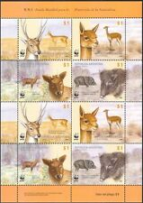 Argentina WWF Deer/Pigs/Vicuna/Antelope/Animals/Nature/Wildlife 8v sht (s1995)