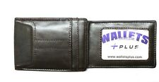 Magnetic Front Pocket Wallet  / Moneyclip - Dark Brown Leather - New