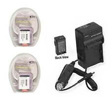 2X Batteries + Charger for Sony  HDR-PJ275 HDR-AS10/B HDR-AS15/B HDR-AS100W
