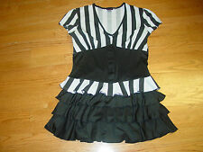 WOMENS XL SEXY OFFICIAL REFERREE  DRESS  DREAMGIRL HALLOWEEN COSTUME HOT LADIES