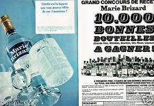 Publicité advertising 1968 (2 pages) Liqueur Anisette Marie Brizard