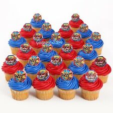 Transformers 24 Cupcake Rings Birthday Toppers Favors Prizes Bag Fillers Supply