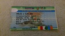 340) Wales v Finland ticket stub euro 2004 ticket stub 10-9-2003