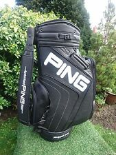 HUGE PING AUTHORISED FITTER TOUR BAG BLACK PVC LEATHER MINT