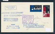 95341) LH FF München - Saloniki Greece 4.12.71, Brief Norwegen SP Oslofjord..