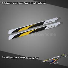 Carbon Fiber 700mm Main Blades for Align Trex 700 RC Helicopter Drone US B1H9