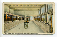 Holyoke MA Mass Main Banking Room, National Bank, spittoon?, teller windows