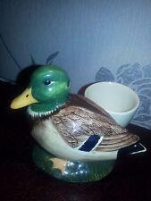 Q Quail Pottery Mallard Duck Figure Egg Cup In Mint Unused Condition