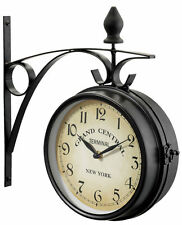 New York Railway Station Clock 21 cm Black