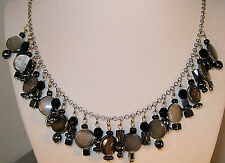 "GORGEOUS ""HEMATITE NECKLACE W/MAGNETIC CLASP"" MADE IN USA! CHECK IT OUT!"