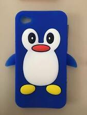 Penguin Style 3D Silicon Case for Apple iPhone 4S / Apple iPhone 4 - Blue