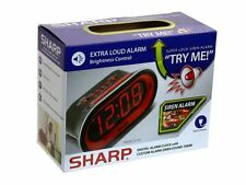 "Sharp 1.4"" Digital Extra Loud Siren Sound 100db Alarm Clock SPC1181"