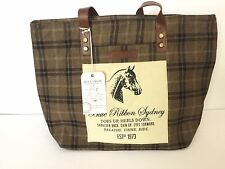 """Bella Taylor Cheval Wide Tote Equestrian Blue Ribbon Horse New With Tag 11x5x11"""""""