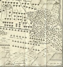 RARE/1700s FRENCH PUBLISHED/BATTLE MAP OF MALPLAQUET/WAR OF SPANISH SUCCESSION
