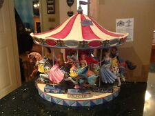 V v rare disney tradition 'princess carousel display base plus all 5 horses-15""