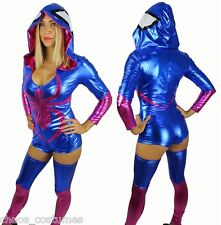 SEXY WOMANS SPIDER MAN GIRL VENOM  BODYCON DELUXE HALLOWEEN COSTUME 6 8 10
