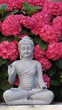 Buddha Figur Groß Wetterfest Tempelwächter Feng Shui Garten Statue Steingrau
