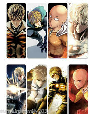 8pcs/Set Anime One Punch Man Bookmark Plastic Transparent Reading Book Mark