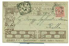 TORINO 1898 ESPOSIZIONE GENERALE ITALIANA Girard F.lli seppia su fondo grigio