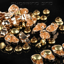 DIY Silver/Gold Skull Metal Studs Spots Spike Rivets Leather craft 10mm 5mm 7mm