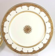 SET 4 GILT ANTIQUE MINTON CHINA G5768 LUNCHEON PLATE RAISED GOLD ENCRUSTED CREAM