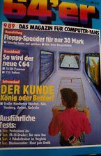 64er (64´er) 09/89 September1989 C64 Commodore 64 (Software-Tests, Floppy) (vg)