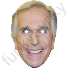 Henry Winkler American Celebrity Fonz Actor Card Mask. All Our Masks Are Pre-Cut
