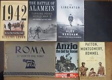 World War II Mediterranean North Africa Anzio Al-Alamein Rommel Monty 7 Book lot