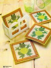 HAPPY FROGS COASTERS PLASTIC CANVAS PATTERN INSTRUCTIONS ONLY FROM A MAGAZINE