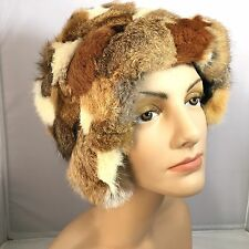 VTG womens Fur Trapper Style rabbit? fur hat Soft Multi colored furs