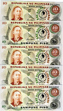 LOT Philippines, 20 x 10 Piso, 1981, Commemorative, P-167, UNC
