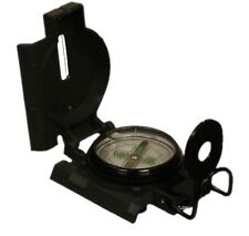 Military Marching Lensatic Compass Metal Case Luminous Dial New Side Ruler