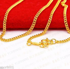 """Discount 999 Pure 24K Yellow Gold Necklace  Perfect Curb Women & Men Chain 17.5"""""""