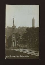 Glos Gloucestershire BRISTOL High Cross Cabot Tower 1912 RPPPC Chatterton Series