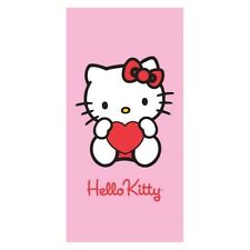 Serviette Drap de plage Hello Kitty rose strandtuch beach towel coton