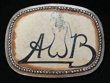OE19140 VINTAGE 1977 *AVERAGE WHITE BAND* MUSIC ROCK N ROLL COMMEMORATIVE BUCKLE