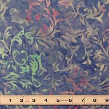 BALI BATIK - BLUE & PINK ORGANIC CRUSH - TDO60.6 -Quilting Fabric by the ½ metre