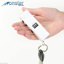 6 Million Volt White Rechargeable Mini Keychain Stun Gun LED Flashlight HORNET
