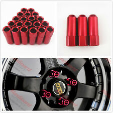 20 Pcs Red M12 x 1.5MM Open End Extended Aluminum Long Rims Tuner Wheel Lug Nuts