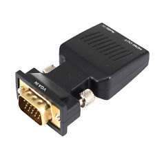 VGA Male To HDMI Female Converter Adapter Audio Port USB Power Cable R437