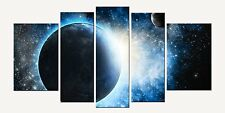 Cosmos Canvas Wall Art Print Set of 5 Pieces Total 35.43 X 70.87 Glow in Dark