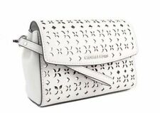 MICHAEL KORS AVA Medium Wristlet in White/Silver Leder NEU